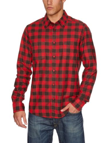 Quiksilver - Chemise - Homme - Rouge (Revolution Red) - FR : X-Large (Taille fabricant : XL)