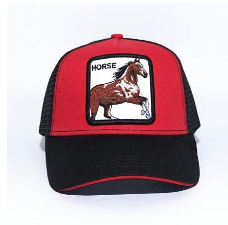 Shihuawu Sombrero de Gorra de béisbol de Malla Bordada con protección Solar Ajustable con patrón de Animales Visera de Gorra de béisbol -8-Talla única-G0195