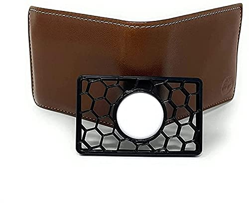 Wallet Case for Apple AirTag - Credit Card-Sized Holder for Wallet, Clutch, or Wristlet, Airtags Holder for Wallet, Flexible Plastic (Black)