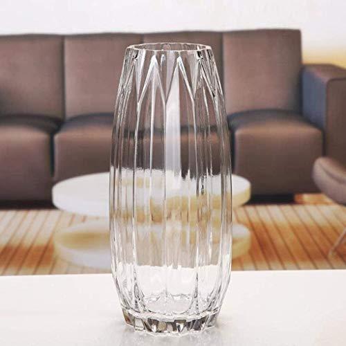 Jarrón para tumba con buen papel decorativo para decoración de cumpleaños, bodas, vacaciones, forma perfecta, botella de cristal para flores (color: transparente)