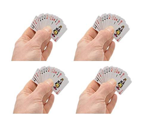4 Stück Mini Kartenspiel by schenkfix