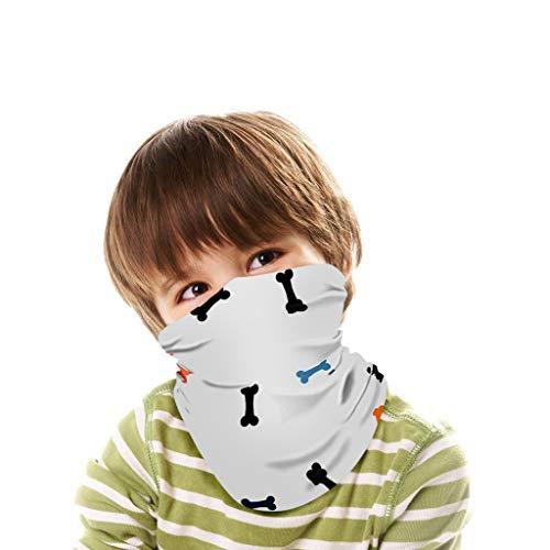 QHJ Schlauchtuch Kinder Motorrad Halstuch Mundschutz Radfahren Sport Stirnband Sonnenschutz Multifunktionstuch Bandana Kopftuch für Jungen und Mädchen
