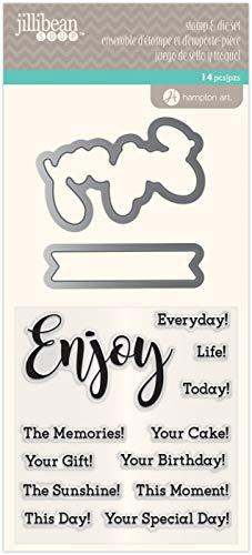 Hampton Art Jillibean Clear Stamps & Dies - Enjoy Everyday - Sentiments