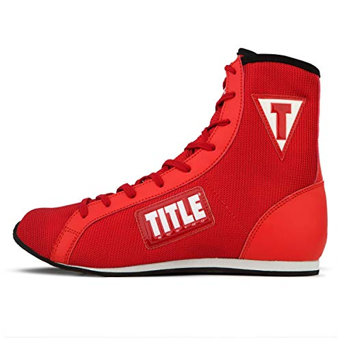 Title Boxing Innovate Mid Boxing Shoes, Red, 10