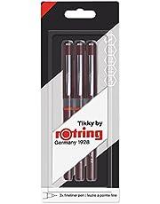 Rotring Tikky Graphic - Rotuladores de punta fina (0,1 mm, 0,3 mm y 0,5 mm, 3 unidades)