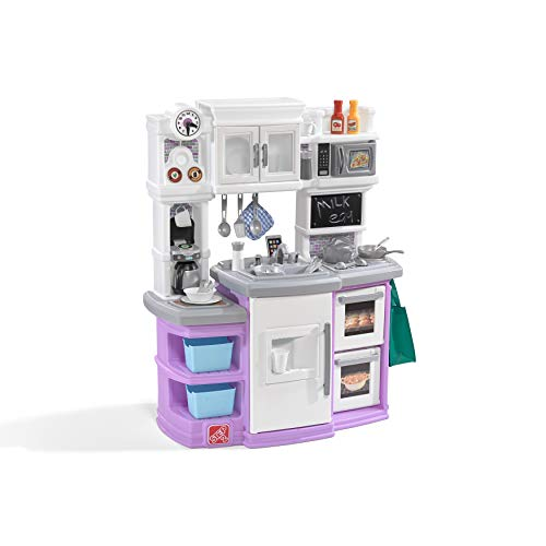 Step2 Great Gourmet Kitchen | Durable Kids Kitchen Playset with Lights & Sounds | Purple Plastic Play Kitchen