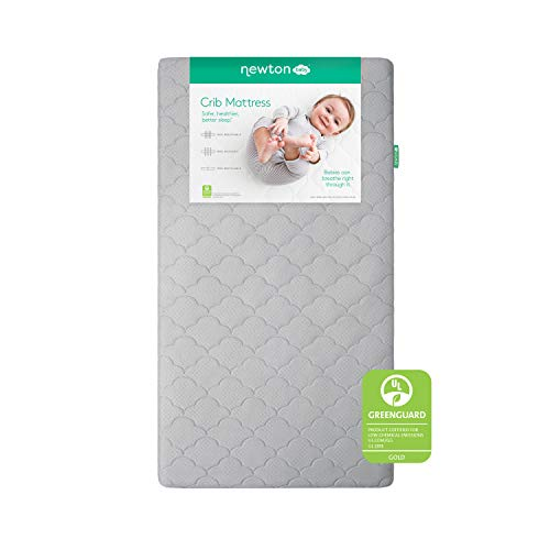 """Newton Baby Crib Mattress and Toddler Bed - 100% Breathable Proven to Reduce Suffocation Risk, 100% Washable, Non-Toxic, Better Than Organic - Removable Cover -Deluxe 5.5"""" Thick - Grey"""