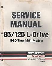 1990 -1991 FORCE OUTBOARDS 85 /125 L-DRIVE MODELS SERVICE MANUAL OB4644 (706)