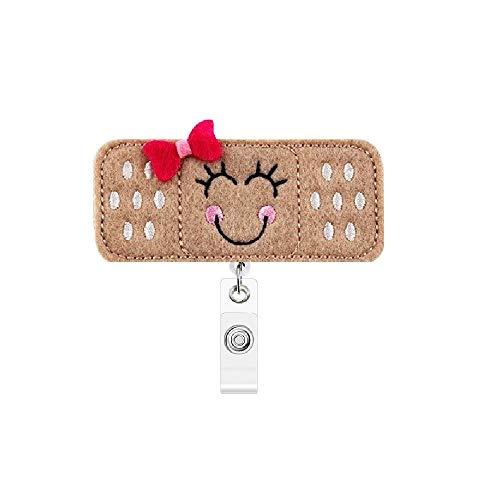 Nurse Badge Reel, Retractable Cute Bandage Bandaid Badge Reel, RN Badge Reel 25 inch Retractable Cord with Alligator Clip