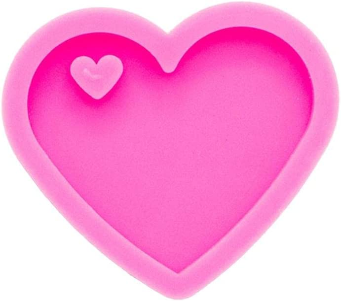 Shiny Valentine Inexpensive Heart Shape Mold Epoxy DIY Jewelry Easy-to-use Keychain Moul