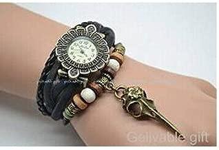 Steampunk Wrist Watch,bird Head Bone Skull Charm Bracelet Watch,braided Bracelet Watch