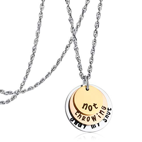 Hamilton Not Throwing Away My Shot Tri-layer Necklace