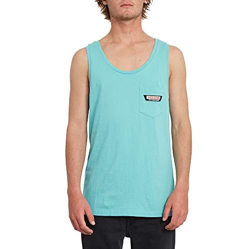 Volcom Trap Ltw TT Camiseta de Tirantes, Hombre, mysto Green, L
