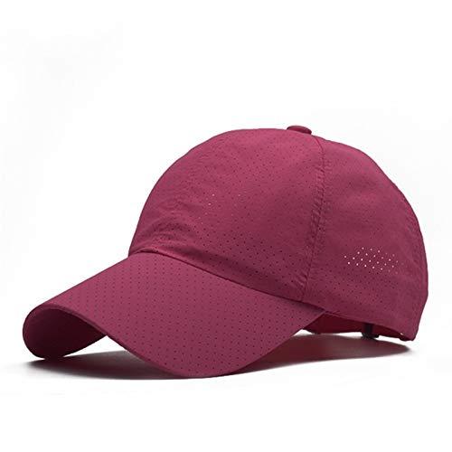 Hombres Mujeres Sport Running Gorros, Tapa de béisbol Ajustable de Secado rápido, Gorra de Visor al Aire Libre Sombrero de Sol de Verano, Sombrero de Malla Transpirable Sombrero de Golf