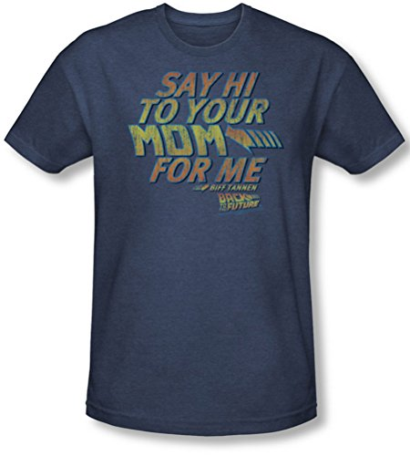 Back To The Future - Männer Say Hallo T-Shirt in Navy, X-Large, Navy