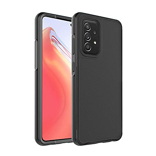 Sharks Box Compatible with Samsung A52 Case Military Grade Drop Protection Shockproof Hybrid TPU and Plastic Protective Phone Case for Samsung Galaxy A52 5G (6.5 Inches Black)