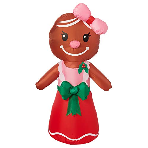 Yard Inflatables Gingerbread Woman, 4 ft