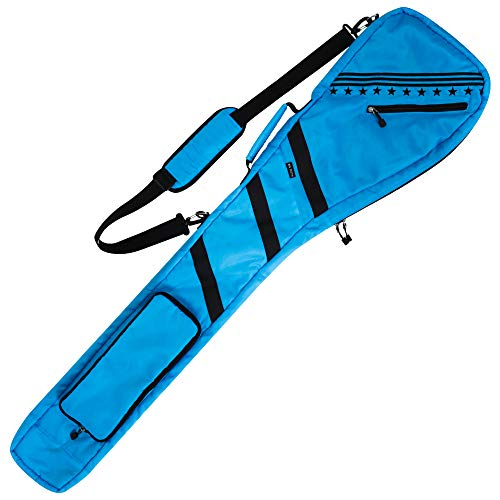 Golf Bag Clubs Case Foldable Zippered Carry Bag Thick and Tough Lightweight Waterproof Sunday Bag Multi Colors Light Blue