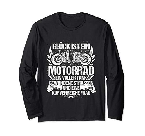 Glück ist kurvenreich - Motorrad Motorradfahrer Langarmshirt