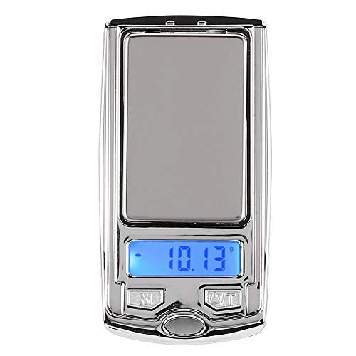 Cafopgrill Intelligente weegschaal, 100 g/0,01 g gram weegschaal, batterij gebufferde elektronische weegschaal, sieraden, gewichtsbalans, digitale huishouding, draagbare miniweegschaal