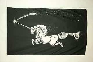 AZ FLAG Black Unicorn Flag 3' x 5' - Unicorn Flags 90 x 150 cm - Banner 3x5 ft