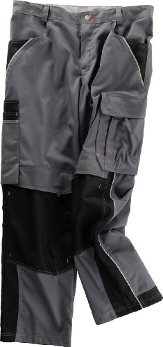 Beb Bund-Hose Arbeits-Hose INFLAME - grau/schwarz - Größe: 48