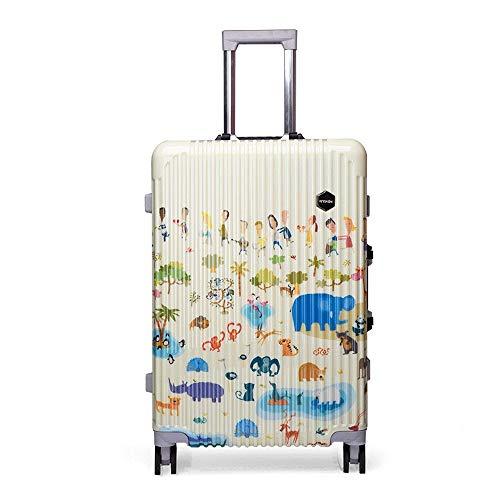 Ys-s Personalización de la tienda Versión coreana de la pequeña de color fresca carro estudiante caso transpirable maleta exclusivo de PC verano, impermeable, resistente al desgaste, la caja de embarq