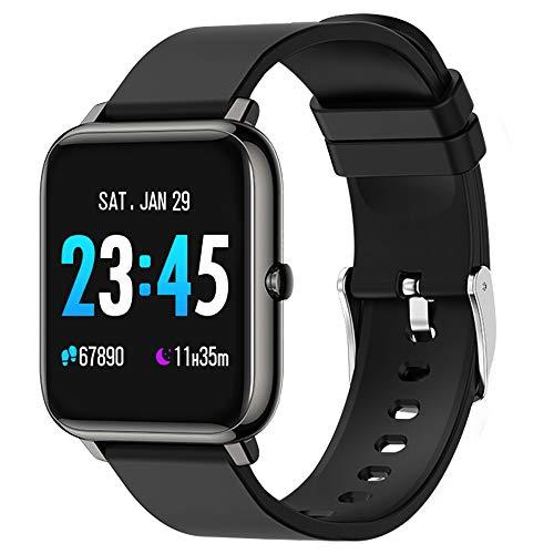 WaBand Smartwatch, Reloj Inteligente con Monitor de presión Arterial, Monitor de frecuencia cardíaca, oxígeno en Sangre y sueño, podómetro, recordatorio sedentario, Adecuado para Android iOS
