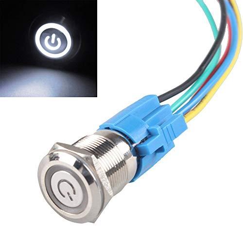 HiLetgo 16MM Latching Pushbutton Switch 5/8