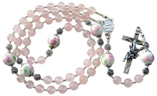~~Cuarzo Rosa Piedra hecha a mano del rosario