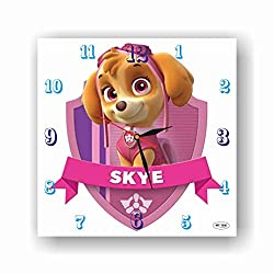 PAW Patrol Skye 11.4'' Handmade Wall Clock - Get Unique décor for Home or Office – Best Gift Ideas for Kids, Friends, Parents and Your Soul Mates.