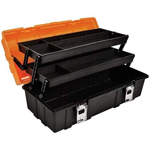 Werkzeugkasten Werkzeugbox Werkzeugkiste, Werkzeugkoffer tragbar mit Griff leer