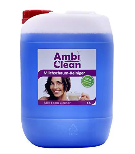 AmbiClean 5 litri di detergente per schiuma di latte, latte e panna per macchine da caffè automatiche