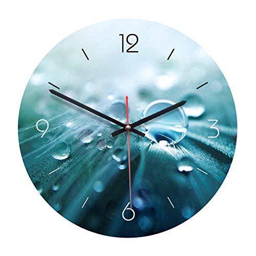 XINTANG Wanduhren 1 STÜCK Runde Wanduhr Wassertropfen Vintage Europäischen Dekorative Moderne Wanduhr Holz Uhr für Wohnzimmer Büro Schlafzimmer Gruppe