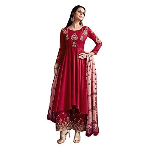 SHRI BALAJI SILK & COTTON SAREE EMPORIUM Trendige Bollywood-Kollektion, Musselin Seide, Salwar Kameez Palazzo-Stil, indisches ethnisches Kleid...