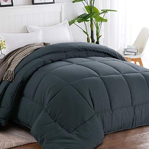 Balichun All Season Reversible Down Alternative Comforter Duvet Insert with Corner Tabs - Hotel Quality Winter Warm Soft Comforter and Hypoallergenic - Luxury Hotel Collection1800 Series-Grey, Queen