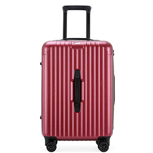 Caishuirong Luggage Ladies Trolley Luggage Business Suitcase PC Material 20 Inch Boarding Luggage Password Box For travel and business trips (Color : C6, Size : 24inch)