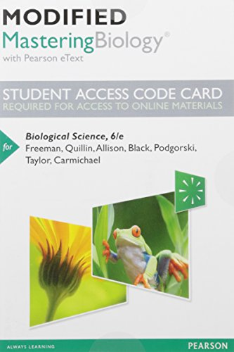 Modified Mastering Biology with Pearson eText -- Standalone Access Card -- for Biological Science (6th Edition)