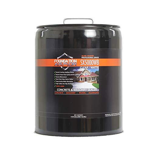 5-Gal. SX5000 WB DOT Approved Water Based Silane Siloxane Penetrating Concrete Sealer, Brick Sealer, and Paver Sealer