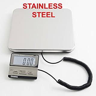 Weighology Heavy Duty Digital Postal Parcel Scale UPS Post Office Scale (440 Lb Stainless Steel Platform)