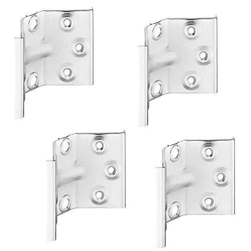 Gedotec Winkelbeschlag Tisch-Zargenverbinder Tischbein-Befestigung für Tische & Bänke | Höhe 70 mm | Stahl verzinkt | Winkel-Verbinder für eine stabile Konstruktion | 4 Stück - Tischwinkel-Beschläge