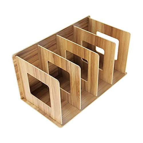 LJGFH Bürobedarf Lagerregale für Büro Organizer Regale Board Schreibtisch Organizer Holz Aufbewahrungsboxen Magazine Bücherschrank für Büro Studienraum dauerhaft (Color : 1pcs)