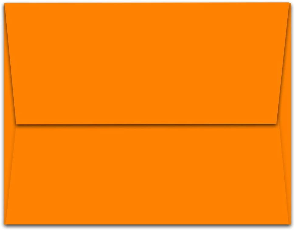 Note Card Cafe New popularity A7 7.25 x 5.25 Challenge the lowest price of Japan ☆ 1000 Envelopes Blank P Orange in