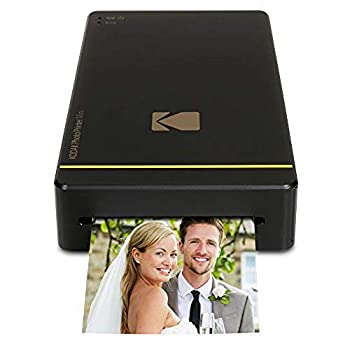 Kodak Mini Portable Mobile Instant Photo Printer - Wi-Fi & NFC Compatible - Wirelessly Prints 2.1 x 3.4  Images Advanced DyeSub Printing Technology  Black  Compatible with Android & iOS