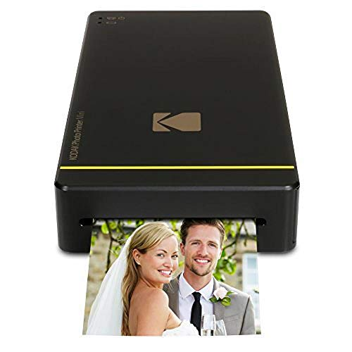 Kodak Mini Portable Mobile Instant Photo Printer - Wi-Fi & NFC Compatible - Wirelessly Prints 2.1 x 3.4' Images, Advanced DyeSub Printing Technology (Black) Compatible with Android & iOS