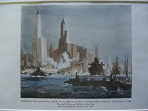 Commerce and Seapower, Panel in Yacht Vagrant, Painted for Harold S. Vanderbilt, Esq.