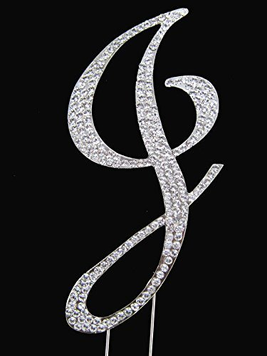 Rhinestone Cake Topper Letter J by other