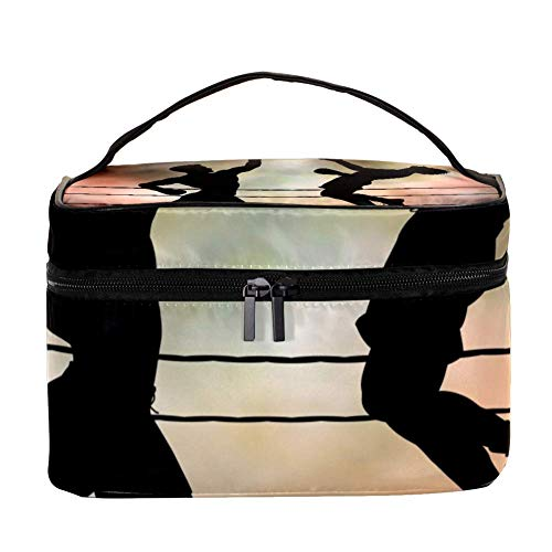 TIZORAX Deux Boxers in A Match Cosmetic Bag Travel Toiletry Case Large Makeup Organizer Box