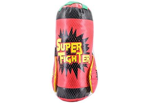 M.Y Kids Super Fighter 40 cm leichter Boxsack mit Handschuhen