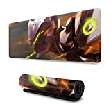 FPSMOUPD Mouse Pad Gaming Large Genji Extended Mouse Pad with Stitched Edges Non-Slip Rubber Base 31.5' x 11.8' x 0.12'
